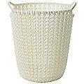 Mini Knit Effect Waste Paper Basket Cream
