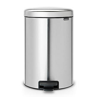Brabantia NewIcon Pedal Bin - Matt Steel Fingerprint Proof 12L