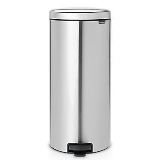Brabantia NewIcon Pedal Bin - Matt Steel Fingerprint Proof 30L