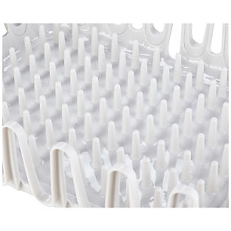 ILO Clam Shell Small Compact Dish Drainer Rack Bright White/Grey alt image 3