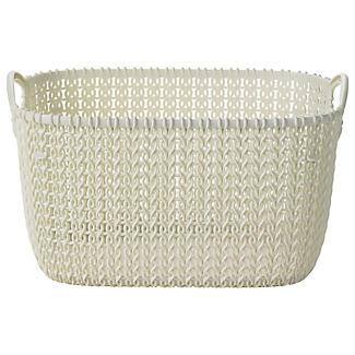 Small Knit Effect Tub Cream