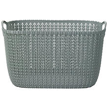 Large Knit Effect Tub Blue