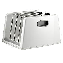 ILO Adjustable Chopping Board Storage Rack White and Grey