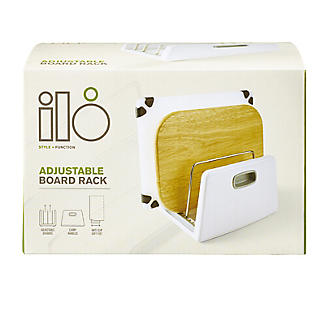 ILO Adjustable Chopping Board Storage Rack White and Grey alt image 3