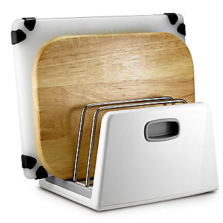 ILO Adjustable Chopping Board Storage Rack White and Grey alt image 4