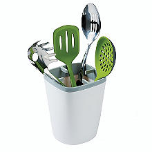 ILO Kitchen Utensil Pot White and Grey