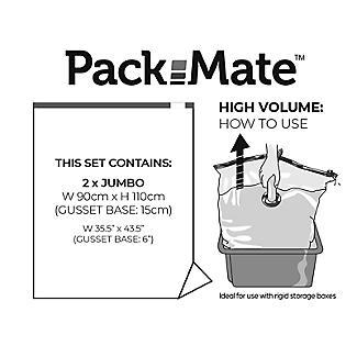 2 Pack-Mate Jumbo Volume Vacuum Bags alt image 3