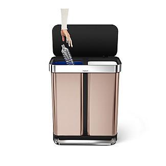 simplehuman Dual Compartment Pedal Bin - Rose Gold 58L alt image 2