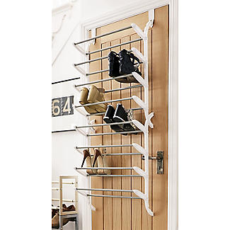 24 Pair Over-Door Shoe Storage Rack alt image 2