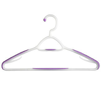 Soft Grip Non Slip Clothes Hangers Mixed Berry 6 Pack alt image 2