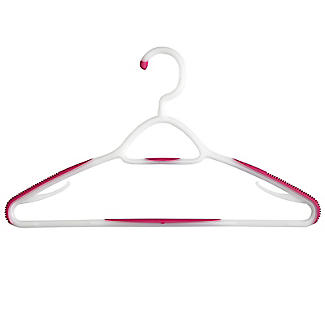 Soft Grip Non Slip Clothes Hangers Mixed Berry 6 Pack alt image 3