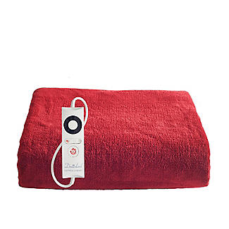 Velvety Red Heated Throw alt image 1