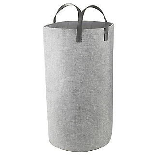 Standing Laundry Tote Basket 48L Grey alt image 3