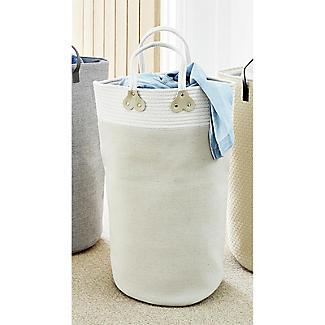 Braid Trim Standing Laundry Tote 48L alt image 3
