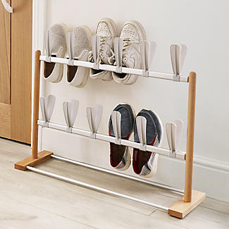 2 Tier Modern Pop On Shoe Rack - Holds 12 Pairs alt image 2