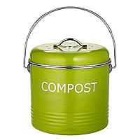 Komposteimer für die Küchenanrichte in Apfelgrün, 3,5Liter