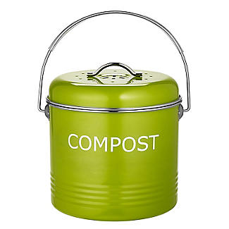 Worktop Compost Bin Apple Green 3.5L