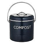 Komposteimer für die Küchenanrichte in Schiefergrau, 3,5Liter