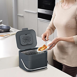 Joseph Joseph Stack 4 Food Waste Caddy with Odour Filter - Graphite alt image 2