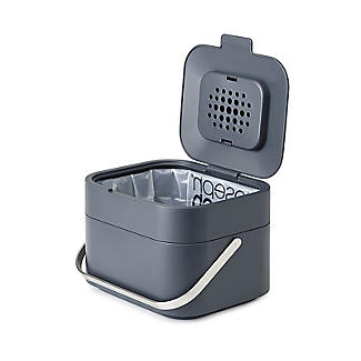 Joseph Joseph Stack 4 Food Waste Caddy with Odour Filter - Graphite alt image 3