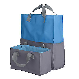 2-in-1 Shopping Trolley Tote Bags Set of 2