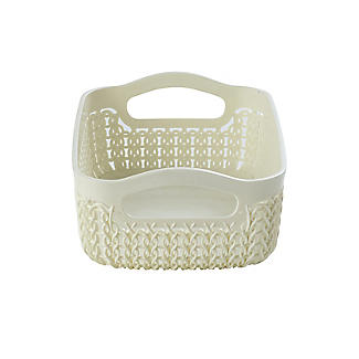 Curver Knit Effect Storage Tray Small - Cream alt image 3