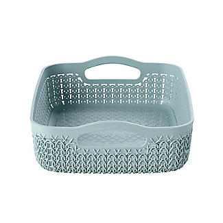 Curver Knit Effect Storage Tray Medium - Blue alt image 3