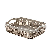 Curver Knit Effect Storage Tray Medium - Dune