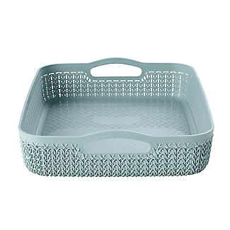 Curver Knit Effect Storage Tray Large - Blue alt image 3