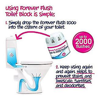 Ecozone Forever Flush 2000 Toilet Cleaner Blocks 2 Pack alt image 2
