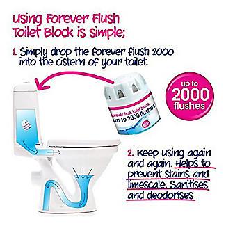 Ecozone Forever Flush 2000 Toilet Cleaner Blocks 2 Pack alt image 2