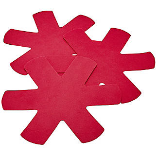 Anti-Scratch Pan Protectors Red 3 Pack
