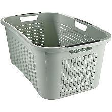 Rotho Lattice Effect Laundry Basket 40L Mint Green