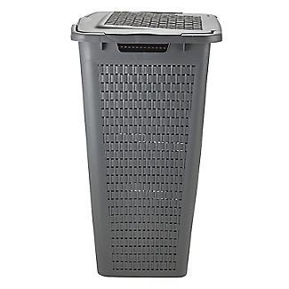 Rotho Lattice Effect Laundry Hamper 50L Slate Grey alt image 2