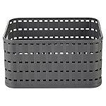 Rotho Lattice Effect Storage Basket Small - Slate Grey