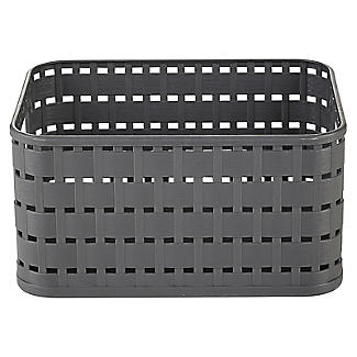 Rotho Lattice Effect Storage Basket Small - Slate Grey