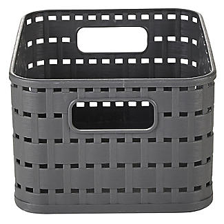 Rotho Lattice Effect Storage Basket Small - Slate Grey alt image 2