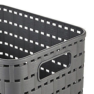 Rotho Lattice Effect Storage Basket Small - Slate Grey alt image 4