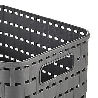 Rotho Lattice Effect Storage Basket Small - Slate Grey alt image 4