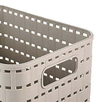 Rotho Lattice Effect Storage Basket Small - Stone alt image 2