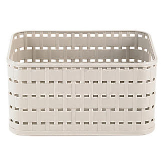 Rotho Lattice Effect Storage Basket Small - Stone alt image 3