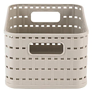 Rotho Lattice Effect Storage Basket Small - Stone alt image 4