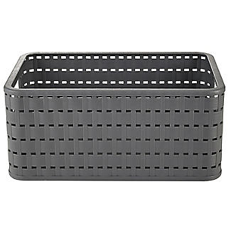 Rotho Lattice Effect Storage Basket Medium - Slate Grey