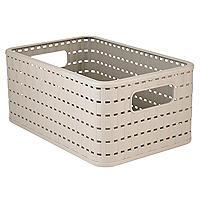Rotho Lattice Effect Storage Basket Medium - Stone