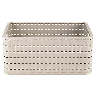 Rotho Lattice Effect Storage Basket Medium - Stone alt image 3