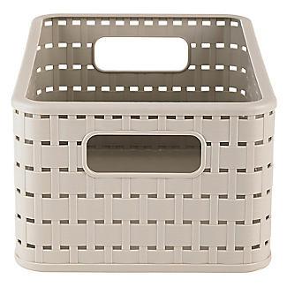 Rotho Lattice Effect Storage Basket Medium - Stone alt image 4