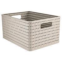Rotho Lattice Effect Storage Basket Large - Stone