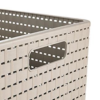 Rotho Lattice Effect Storage Basket Large - Stone alt image 2
