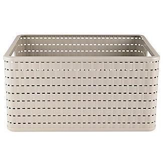 Rotho Lattice Effect Storage Basket Large - Stone alt image 3