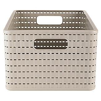 Rotho Lattice Effect Storage Basket Large - Stone alt image 4
